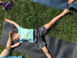 How can I get children to actually relax in a yoga class?