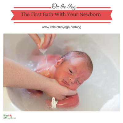 The First Bath with your Newborn