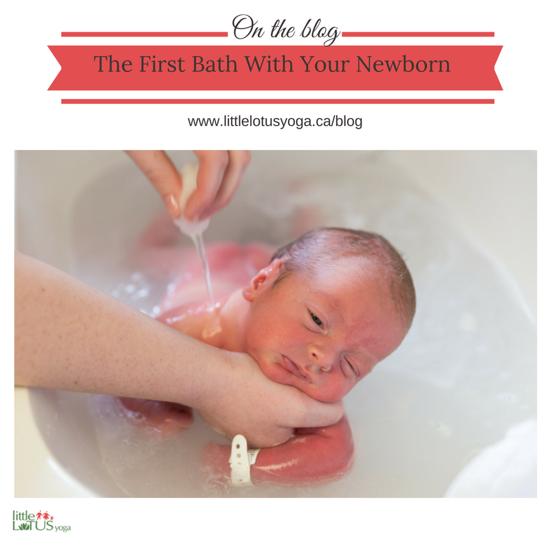 The First Bath with your Newborn - Little Lotus Yoga