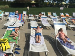 Calypso Water Park Kids Sun Bathing